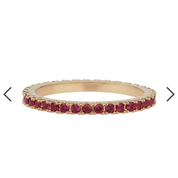 Chloe + Isabel Jewelry - January red birthstone petite bijou stackable